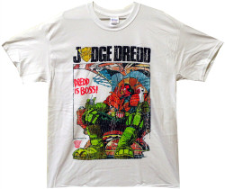 Image Closeup for Judge Dredd Is Boss T-Shirt