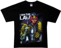 Image Closeup for Judge Dredd I am the Law T-Shirt