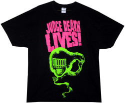Image Closeup for Judge Dredd Judge Death Lives! T-Shirt