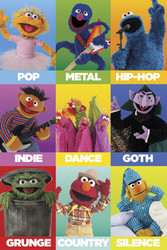 Image for Sesame Street - Music Genres Poster
