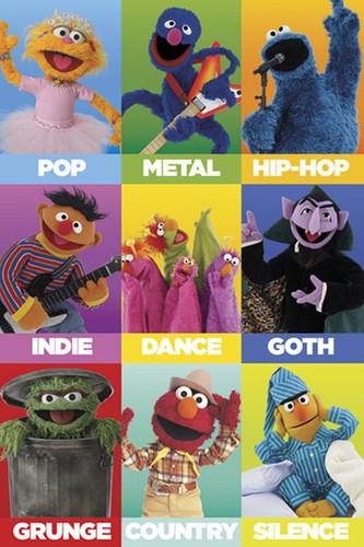 Image for Sesame Street - Music Genres Poster