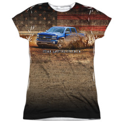 Image for Chevy Girls T-Shirt - Silverado in the Mud