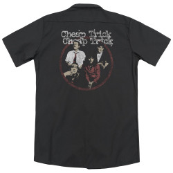 Image Closeup for Cheap Trick Dickies Work Shirt - Band Circle