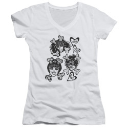 Image for Yeah Yeah Yeahs Girls V Neck - Fangs and Bones