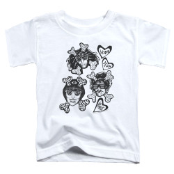 Image for Yeah Yeah Yeahs Toddler T-Shirt - Fangs and Bones