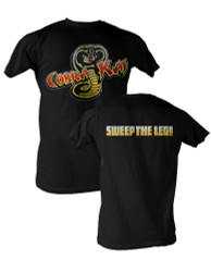 Image Closeup for Karate Kid Cobra Kai Sweep the Leg T-Shirt