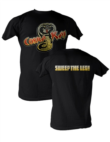 a7f14db52 Karate Kid Cobra Kai Sweep the Leg T-Shirt - NerdKungFu