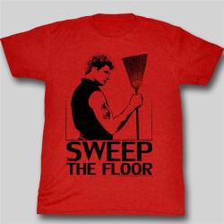 Image Closeup for Karate Kid T John Kreese Sweep the Floor T-Shirt