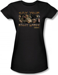 Image for Labyrinth Girls Shirt - Say Your Right Words