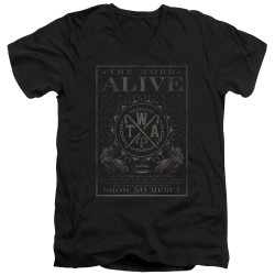 Image for The Word Alive V Neck T-Shirt - Show No Mercy