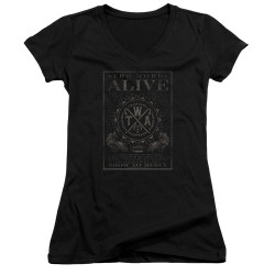 Image for The Word Alive Girls V Neck - Show No Mercy