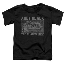 Image for Andy Black Toddler T-Shirt - The Shadow Side