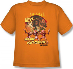 Image for Labyrinth Youth T-Shirt - Hey! Her Head Don't Come Off...