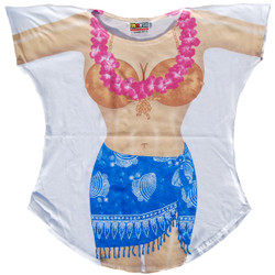 Image for Blue Sarong Cover Up T-Shirt