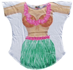 Image for Hula Girl Cover Up T-Shirt