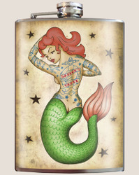 Image for Trixie & Milo Tattooed Mermaid Hip Flask