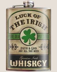 Image for Trixie & Milo Luck of the Irish Hip Flask