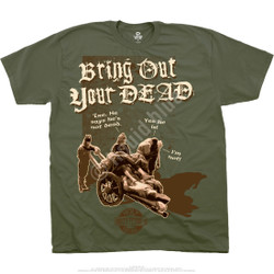 Image for Monty Python - Bring Out Your Dead Green T-Shirt