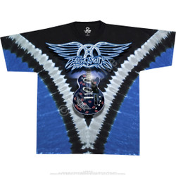 Image for Aerosmith Guitar Tie-Dye T-Shirt