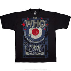 Image for The Who Pinball Wizard Black T-Shirt