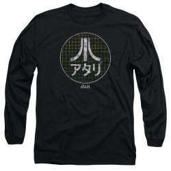 Image for Atari Long Sleeve T-Shirt - Green Grid Kanji Logo