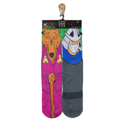 Image for Teenage Mutant Ninja Turtle Socks - Splinter & Shredder