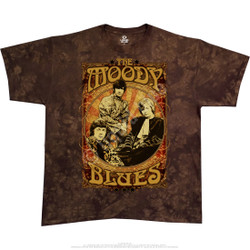 Image for Moody Blues Vintage Poster Tie-Dye T-Shirt