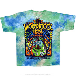 Image for Woodstock Music Festival Tie-Dye T-Shirt