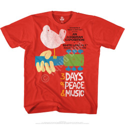 Image for Woodstock - 3 Days Red T-Shirt