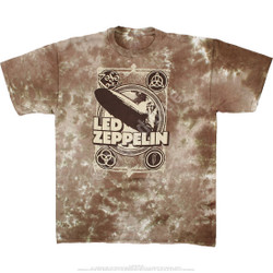 Image for Led Zeppelin - Zeppelin Poster Tie-Dye T-Shirt