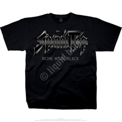 Image for Spinal Tap - None More Black T-Shirt Black