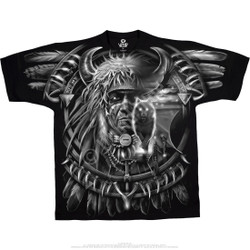 Image for Wolf Dreamcatcher Black T-Shirt