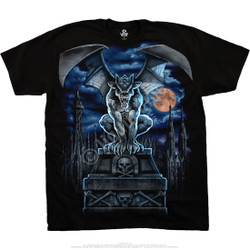 Image for Gargoyle Moon Black T-Shirt