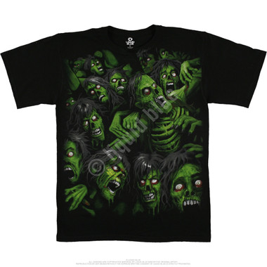 Image for Zombie Pile Black T-Shirt