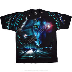 Image for Tribal Wolf Black T-Shirt