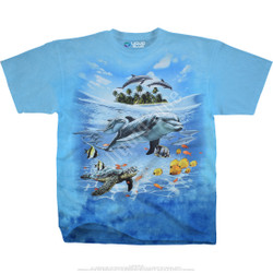 Image for Dolphin Domain Tie-Dye T-Shirt