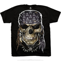 Image for Pirate Skull Black T-Shirt