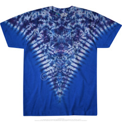 Image for Blue Krinkle V Unprinted Tie-Dye T-Shirt