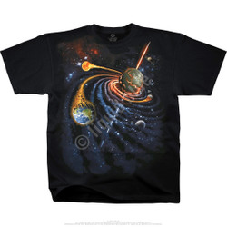 Image for Spiral Space Black T-Shirt