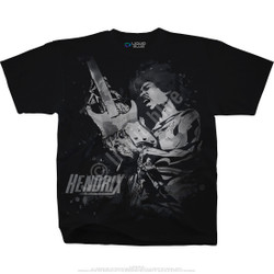 Image for Jimi Hendrix Guitar God Black T-Shirt