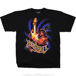 Image for Jimi Hendrix Burning Desire Black T-Shirt