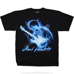 Image for Jimi Hendrix Midnight Lightning Black T-Shirt