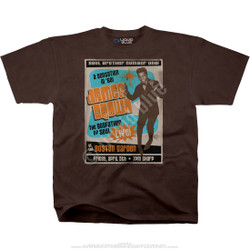 Image for James Brown Soul Brother No. 1 Brown Athletic T-Shirt
