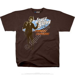 Image for James Brown Live at the Apollo Brown Athletic T-Shirt