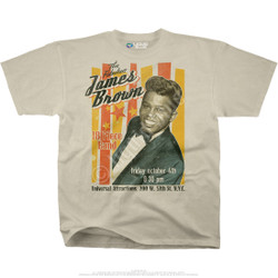 Image for James Brown Fabulous James Brown Tan Athletic T-Shirt