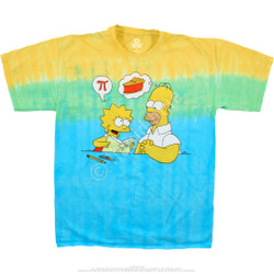 Image for Simpsons Mmm Pi Tie-Dye T-Shirt