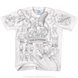 Image for Simpsons Sketch White T-Shirt