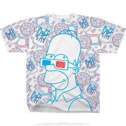 Image for Simpsons 3D Homer White T-Shirt