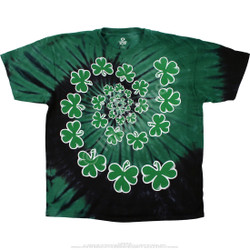 Image for Shamrock Spiral Tie-Dye T-Shirt