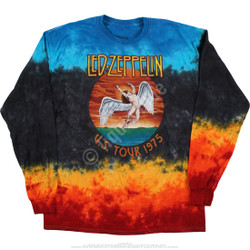 Image for Led Zeppelin Icarus 1975 Tie-Dye Long Sleeve T-Shirt